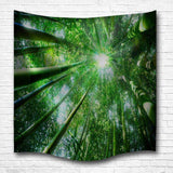 Bamboo Sunshine 3D Digital Printing Home Wall Hanging Nature Art
