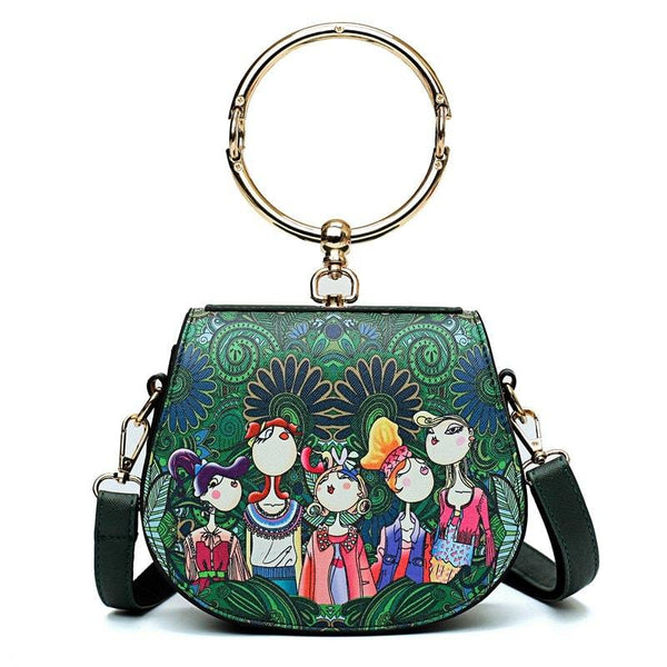 Women Fashion The Forest Girl Printing Casual Shoulder Bag