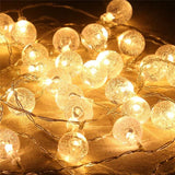 20-LED Bubble Ball Shaped Christmas Tree String Lights Decorated Colored Lamp