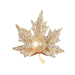 Maple Leaf Brooch Gold Color Brooches Pins Exquisite Collar For Women