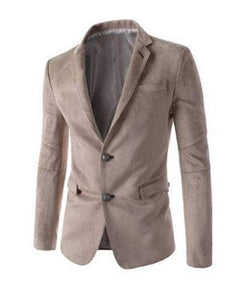 Houndstooth Lapel Long Sleeves Men's Blazer