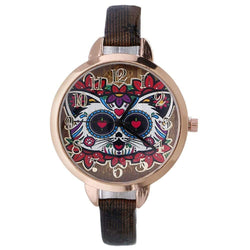 Womens Personality Creative Leather Belt Quartz Watch