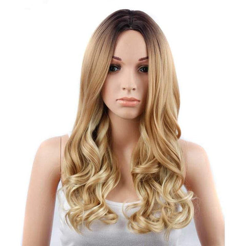 CHICSHE 26 inch Blonde Ombre Wig Synthetic Long Wavy Natural Hair