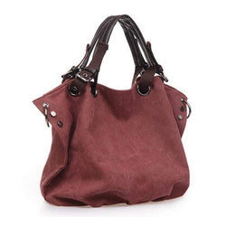 New Style Women Large-Capacity Handbag Canvas Shoulder Bag