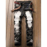 Acid Wash Straight Leg Vintage Jeans