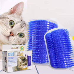 Plastic Pet Cat Massager Brush Comfortable Corner Cat Massage Self Groomer Comb Brush Pet Accessories