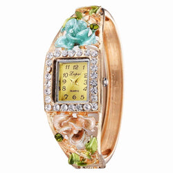 Lvpai P053 Women Unique Flowers Bangle Quartz Watches