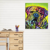 Abstract Canvas Print of Dog Frameless Home Wall Decoration