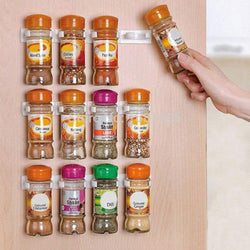 Wall Sticky Spice Bottles Gripper Organizer Storage Rack Kitchen Accessories