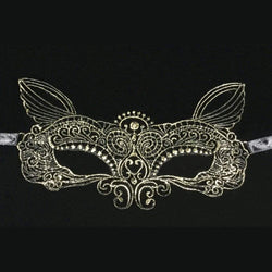 New High-Quality Fashion Sexy Ladies Gift Party Lace Hot Gold Fairy Mask