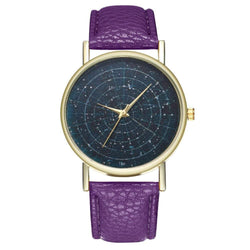 Zhou Lianfa New Trendsetter Gold Dial Lyre Pattern Blue Basemap Watch