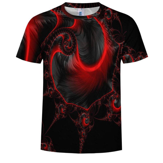 Abstract Spiral 3D Printing Short Sleeve T-shirt