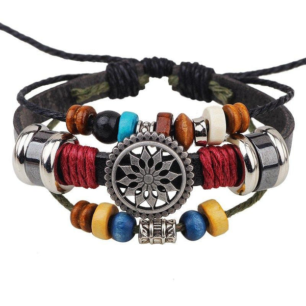 Fashion Temperament Wild Beaded Leather Bracelet