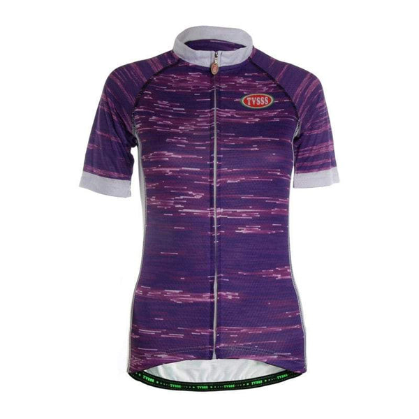 TVSSS Women Summer Short-Sleeved Purple Color Bicycle Sportswear