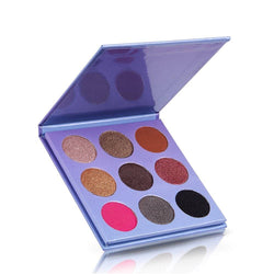 9 Colors Glitter Purple Eyeshadow Dish