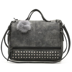 Matte Fur Ball Player Shoulder Bag