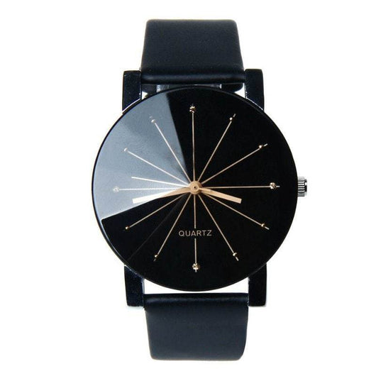Men Quartz Round Dial Watch