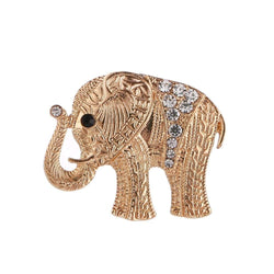 Women Girls Mens Crystal Rhinestone Elephant Pendant Brooch Fine Jewelry Gifts Ornament
