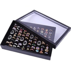 Fashion Portable 100 Grids Jewelry Box