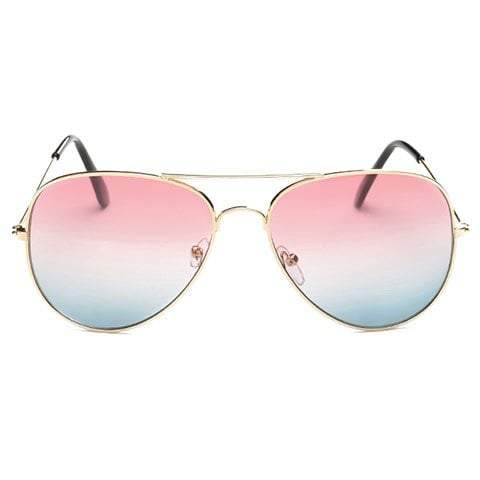GRADUAL COLOR LENSES METAL FRAME SUNGLASSES