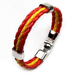 Layered Leather Spain Bracelet