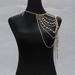 Multilayered Small Bell Tassel Body Chain
