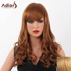 Fashion Long Adiors Capless Fluffy Wave Women's Real Human Hair Wig