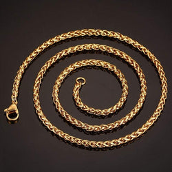 Rock Style Gold Plated Snake Chain Necklace For Men