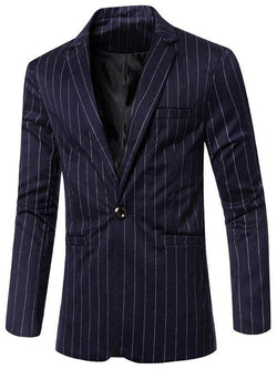 Notched Lapel Collar Stylish Single Button Blazer