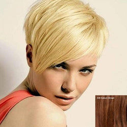Fashion Fluffy Short Pixie Cut Women's Human Hair Side Bang Wig