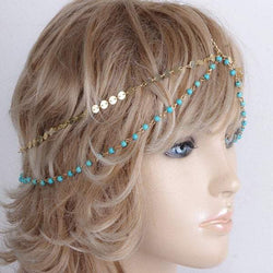 Charming Multilayer Beaded Sequin Hair Accessory