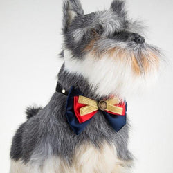Multilayered Bowknot Adjustable Pet Dog Collar
