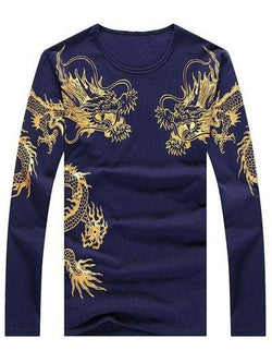 Round Neck Long Sleeve Totem Print T-Shirt