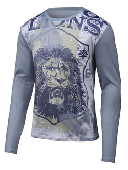 Round Neck Long Sleeve Lion 3D Printed T-Shirt