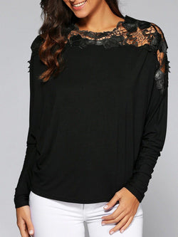 Bat Sleeve Lace Tee