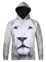 All Over Lion Printed Cool Hoodie