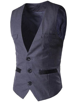 Welt Pocket Buckled Single Breasted Waistcoat
