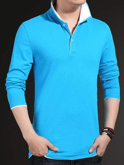 Long Sleeve Plus Size Polo Shirt
