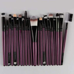 22 Pcs Nylon Eye Lip Makeup Brushes Set | HOTTOPTRENDS