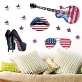 3D Stereo Accessory Flag Design Home Decor Wall Stickers