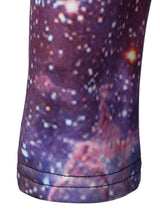3D Galaxy Print with Pocket Hooded Dress