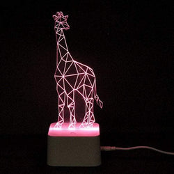 Color Changing 3D Visual Giraffe Remote Control LED Night Light