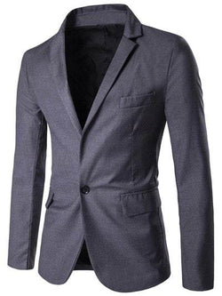 Simple Lapel One Button Blazer