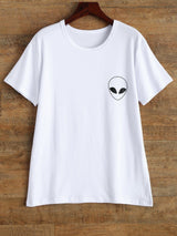 Alien Graphic Print Short Sleeve T Shirt