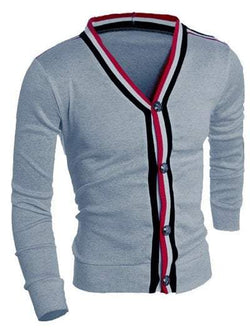 V-Neck Long Sleeve Men's Cardigan