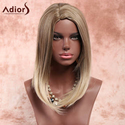 Adiors Medium Side Parting Bob Straight Colormix Synthetic Wig