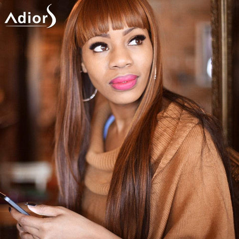 Adiors Neat Bang Colormix Silky Straight Long Synthetic Wig