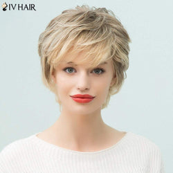 Siv Hair Pixie Short Layered Side Bang Human Hair Wig