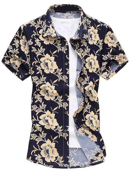 Floral Button Up Short Sleeve Shirt