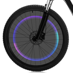 Bicycle Colorful Gas Nozzle / Valve Cap Light AG10 Button Battery Powered